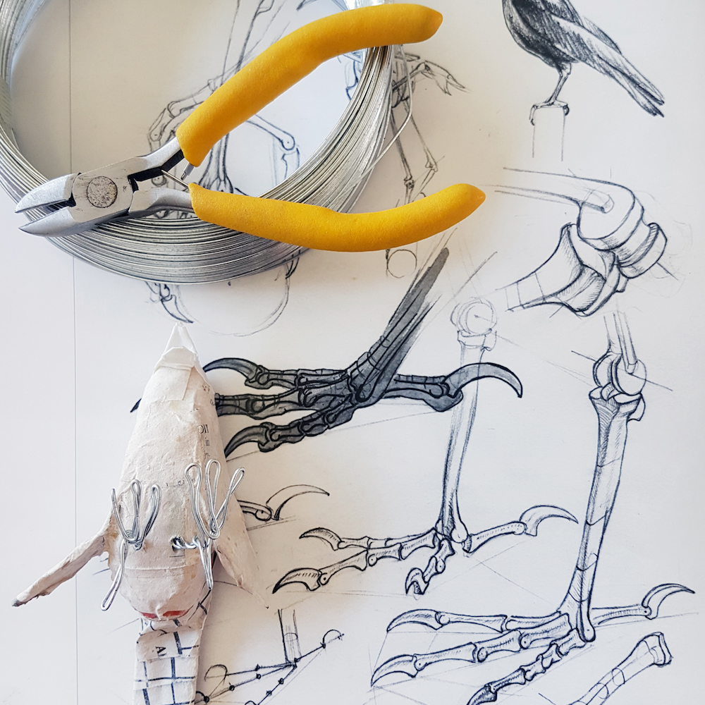 Paper Birds of Spring - Drawn to Seeing Drawing Workshop