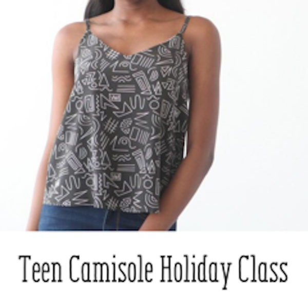 Teen Holiday Sewing: Camisole Top - UsefulBox